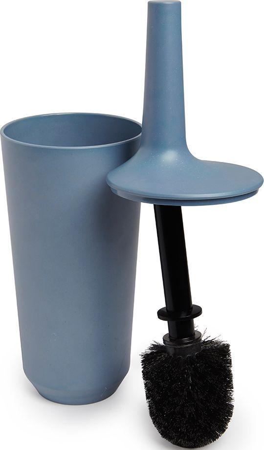 Ершик туалетный Umbra Fiboo, цвет: дымчато-синий, 39,8 х 11,8 х 11,8 см023876-755Этот нужный предмет изготовлен из комбинированного материала (меламин и бамбуковое волокно), который отличает экологичность, износостойкость и уникальный матовый эффект. Благодаря лаконичному дизайну будет гармонично смотреться в любой ванной комнате. Удобен в использовании благодаря эргономичной конструкции. Дизайн: Wesley Chau