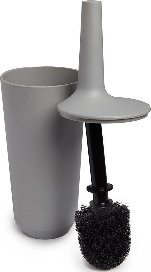 Ершик туалетный Umbra Fiboo, цвет: серый, 39,8 х 11,8 х 11,8 см023876-918Этот нужный предмет изготовлен из комбинированного материала (меламин и бамбуковое волокно), который отличает экологичность, износостойкость и уникальный матовый эффект. Благодаря лаконичному дизайну будет гармонично смотреться в любой ванной комнате. Удобен в использовании благодаря эргономичной конструкции. Дизайн: Wesley Chau
