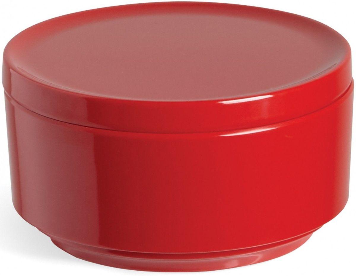 Контейнер для хранения Umbra Step, цвет: красный, 7,1 х 12,7 х 12,7 см024000-505Невероятно аккуратный и удобный контейнер из литого меламина для хранения ватных дисков и других мелочей в ванной. Блангодаря крышке, ватные диски не намокнут и не покроются пылью. Сочетается с другими аксессуарами из коллекции STEP Дизайнер Umbra Studio