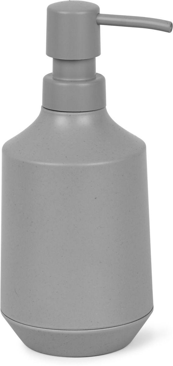 Диспенсер для мыла Umbra Fiboo, цвет: серый, 19,1 х 8,3 х 8,3 см1005901-918Диспенсер для жидкого мыла изготовлен из комбинированного материала (меламин и бамбуковое волокно), который отличает экологичность, износостойкость и уникальный матовый эффект. Благодаря лаконичному дизайну будет гармонично смотреться в любой ванной комнате. Он также подойдет для кухни в качестве диспенсера для моющего средства. Объем 236 мл. Дизайнер Wesley Chau