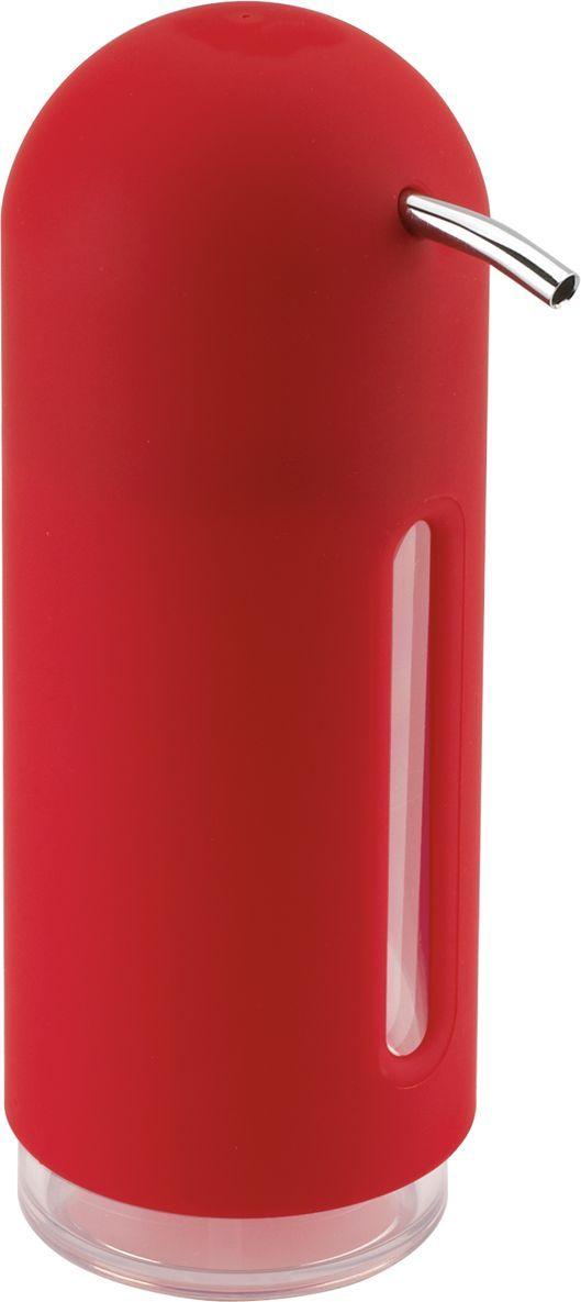 Диспенсер для жидкого мыла Umbra Penguin, цвет: красный, 19 х 6 х 6 см330190-505Мыло душистое, полотенце пушистое - если мыть руки, то с этим слоганом. Потому что приятно пахнущее мыло, например, ванильное или земляничное, поднимает настроение. А если оно внутри красивого диспенсера, который поможет отмерить нужное количество, это вдвойне приятно. Те, кто покупает жидкое мыло, знают, что очень часто оно продается в некрасивых упаковках или очень больших бутылках, которые совершенно неудобно ставить на раковину. Проблема решена вот с таким лаконичным симпатичным диспенсером. Теперь вы не забудете вымыть руки перед едой! P.S. (Важная подсказка): диспенсер также можно использовать на кухне для моющего средства, получается очень экономно.