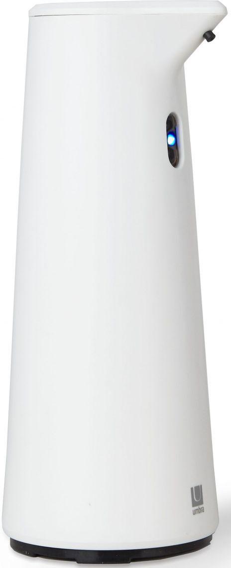 Диспенсер для мыла Umbra Finch, сенсорный, цвет: белый, 18,8 х 9,5 х 9,5 см330301-660Диспенсер из литого пластика с автоматическим сенсорным дозатором. Для получения порции жидкого мыла, средства для мытья посуды или лосьона достаточно просто поднести к дозатору руки: жидкость будет подана автоматически. Широкое горлышко облегчает процесс наполнения емкости. Дозатор оснащен прозрачным окошком — индикатором уровня жидкости. Работает от 4 стандартных батареек AAA (не входят в комплект) Объём 295 мл Дизайн: Alan Wisniewski