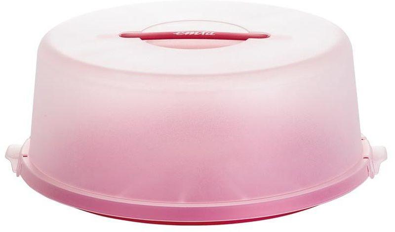 Контейнер для торта Emsa Basic, цвет: красный, диаметр 33 см504917