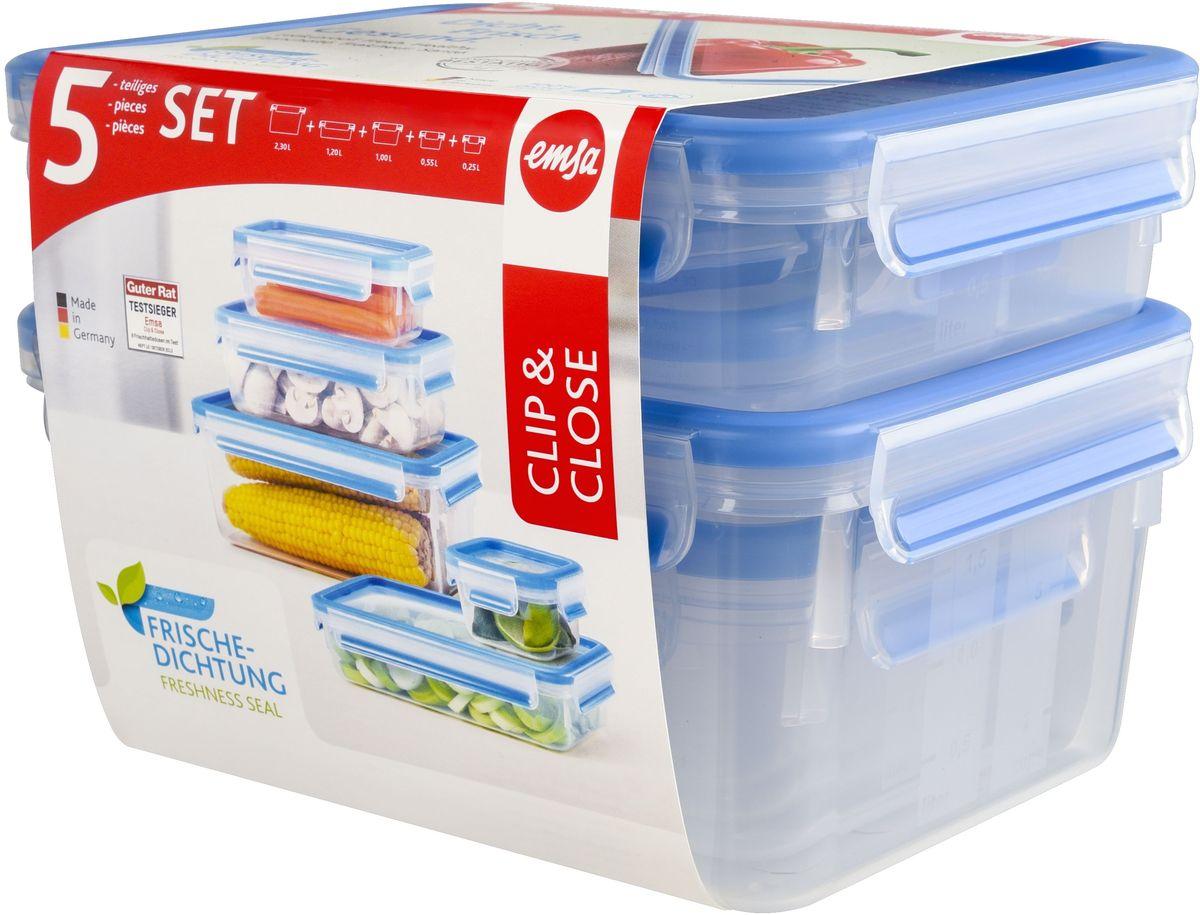 Набор контейнеров Emsa Clip&Close, 5 предметов512753