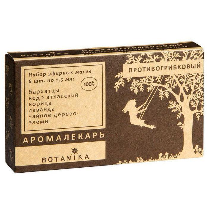 Botanika набор эфирных масел Противогрибковый, 6x1,5 мл00007896Жасмин крупноцветковый. Регулируя кровообращение в органах малого таза, позитивно влияет на выработку тестостерона. Увеличивает продолжительность полового акта, даря партнерам гармонию ощущений. Иланг-Иланг. Наполняет атмосферу романтичным и утонченным ароматом. Стимулирует выработку активных сперматозоидов и повышает влечение партнеров друг к другу. Мускатный орех. Раскрепощает партнеров, даря им удовольствие друг от друга и от ярких эмоций. Нероли. Роскошный аромат свежих цветов нероли погружает пару в романтичную атмосферу. Эффективно справляется с эректильной дисфункцией, позволяя не допустить неприятных впечатлений у партнерши. Пачули. Масло пачули устраняет половую холодность, усиливая потенцию и снимая фригидность. Подходит и для мужчин, и для женщин — его ласковый аромат идеален для романтического вечера. Сандаловое дерево. Стимулируя эротическую активность, аромат сандала пробуждает в каждом мужчине дух завоевателя. Позволит вам чувствовать себя любимым.