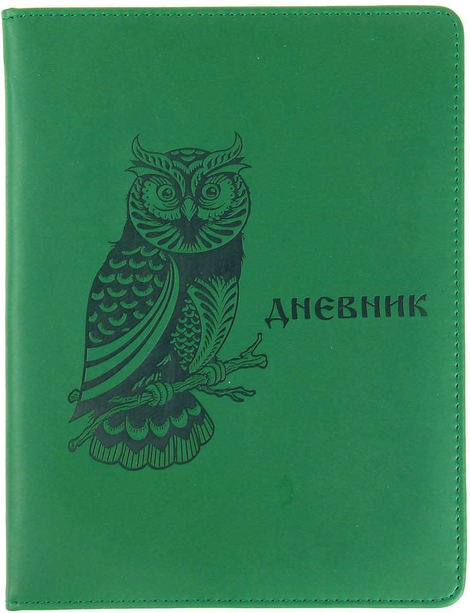 Дневник школьный Сова для 5-11 классов цвет зеленый1030353