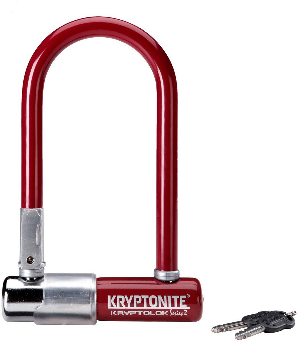 Замок велосипедный Kryptonite U-locks KryptoLok Series 2 Mini-7, цвет: бордовый0720018001522Велозамок Kryptonite Kryptolok series 2 Mini-7 Orange — компактный размер, надёжность и яркая цветовая гамма. Уникальный набор ключей, 13-ти миллиметровая дужка и двойная конструкция засова гарантированно не поддадутся кусачкам и взлому. Благодаря своим габаритам, u-lock легко возить с собой в сумке или за ремнем. - 13 мм закаленная стальная скоба - Система Transit Flex Frame-U для крепления к раме байка - Виниловое покрытие, не оставляющее царапин на раме - Защита от стука и шума - Защита от пыли и влаги - В комплекте идет 2 ключа - Программа Key Safe (возможность заказа нового ключа) - Silver Sold Secure (классификация надежности замков в Европе) - Уровень защиты 6 из 10 Диаметр дуги замка: 13 мм Размеры замка: 8,2 х 17 см Вес модели: 1,11 кг.
