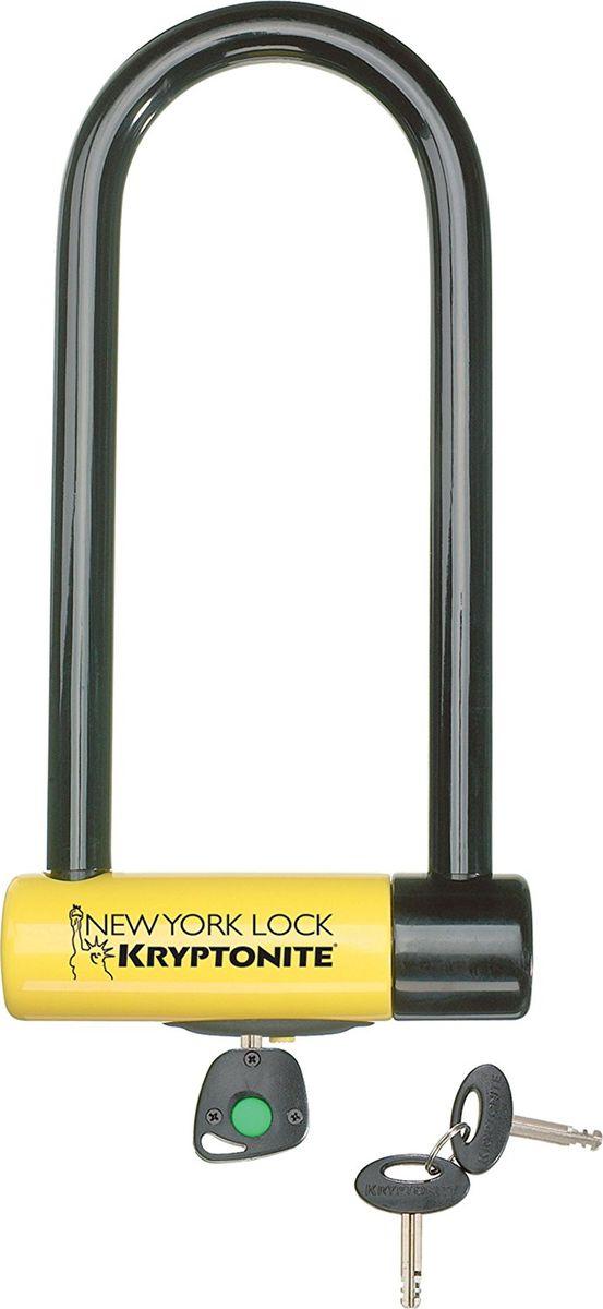 Замок велосипедный Kryptonite U-locks New York Lock M18, желтый0720018994589U-образный велосипедный замок New York Lock M18-WL имеет максимальную степень защиты по шкале производителя, что позволит вам оставлять ваш байк в самых темных и непроходных улочках вашего города. Стальная скоба, двойной запорный механизм, усиленный цилиндрический корпус — выдерживают болторез и другие длиннорычажные кусачки. Универсальная система крепления Transit FlexFrame-U позволяет легко перевозить замок Kryptonite New York Lock M18-WL практически на любой раме. Благодаря виниловому покрытию, влагозащите и раздвижному пыльнику замок можно использовать в любую погоду. - 18 мм закаленная стальная скоба - 3 ключа, включая 1 с подсветкой - Программа Key Safe (возможность заказа нового ключа) - Система транспортировки Transit FlexFrame-U - Защита от стука и шума - Gold Sold Secure (классификация надежности замков в Европе) - Уровень защиты 10 из 10 Диаметр дуги замка: 18 мм Размеры замка: 10,3 х 26,1 см Вес модели: 2,76 кг.