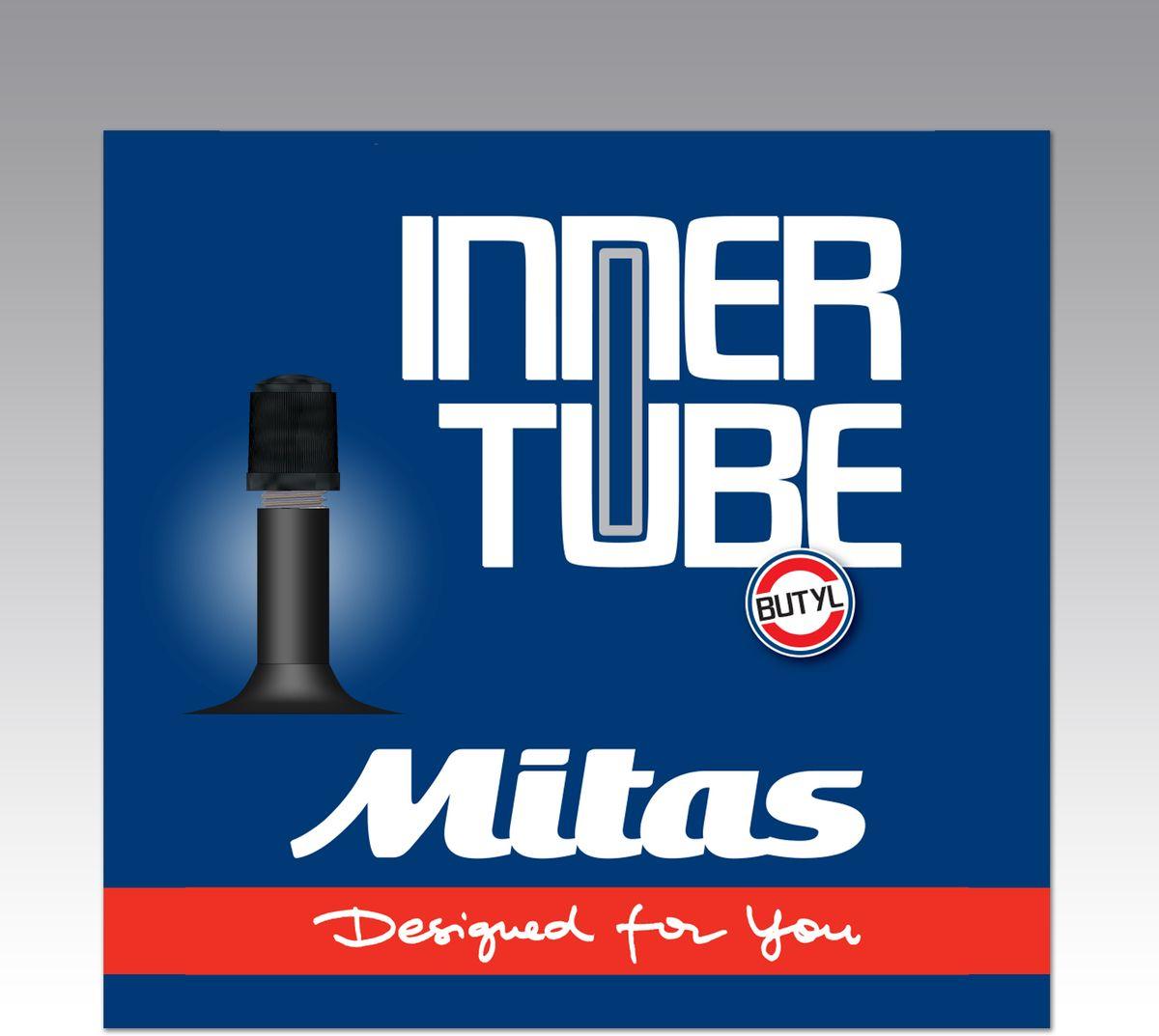 Велокамера Mitas A03 AV35, цвет: черный, 700 х 2,55-10302041-111: 700 x 25 / 35C (25/37-622/635) Ниппель: автомобильный