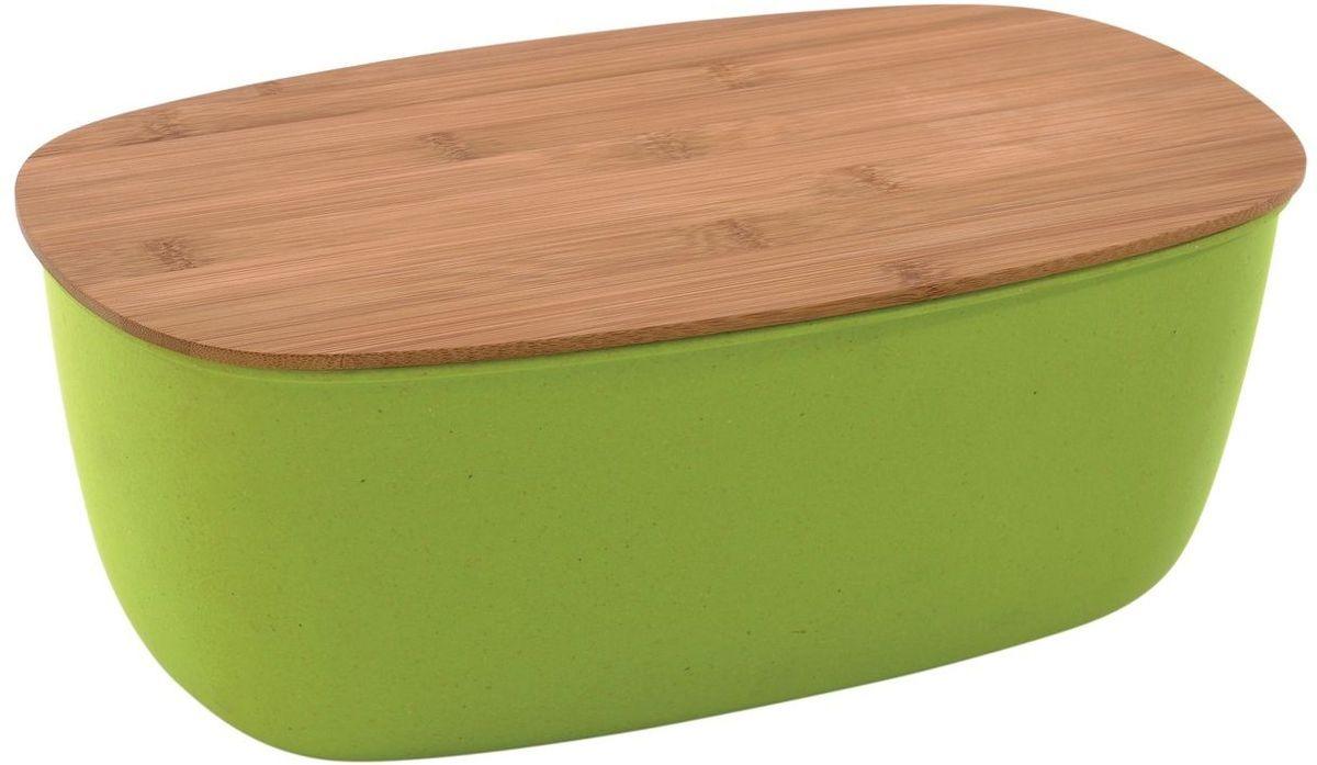 Хлебница BergHOFF Cook&Co, с крышкой, цвет: зеленый, 35,5 х 20 х 13,5 см2800044