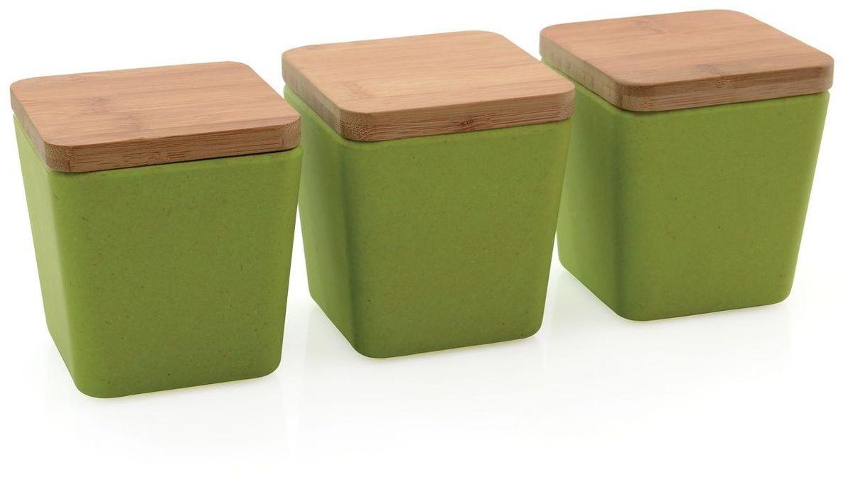 Набор емкостей для хранения BergHOFF Cook&Co, цвет: салатовый, 3 шт2800059