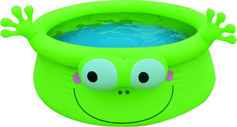 Бассейн надувной Jilong Frog, цвет: зеленый, от 3 лет, 62 х 175 см17398Надувной бассейн FIGER ANIMAL POOL FROG Возраст 3+ Для использования на даче и природе - Размер 175х62см - Объем: 1143 литра - Надувается только верхняя кромка, которая дает пространственную стабилизацию всему бассейну - Забавный дизайн в виде лягушки - Самоклеящаяся заплатка в комплекте Артикул: 17398 Материал: ПВХ Упаковка: картон Размер упаковки,см: 26х17х30 см Вес: 3,3 кг Компания JILONG это широкий выбор продукции высокого качества и отличный выбор для отдыха на природе.