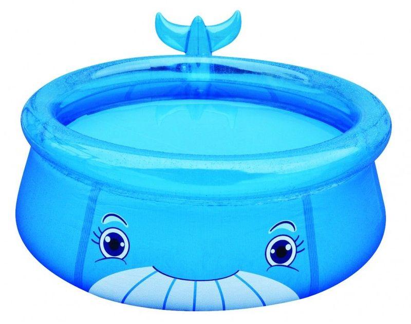 Бассейн надувной Jilong Whale, цвет: голубой, от 3 лет, 62 х 175 см17399Надувной бассейн FIGER ANIMAL POOL WHALE Возраст 3+ Для использования на даче и природе - Размер 175х62см - Объем: 1143 литра - Надувается только верхняя кромка, которая дает пространственную стабилизацию всему бассейну - Забавный дизайн в виде китенка - Самоклеящаяся заплатка в комплекте Артикул: 17399 Материал: ПВХ Упаковка: картон Размер упаковки,см: 26х17х30 см Вес: 3,3 кг Компания JILONG это широкий выбор продукции высокого качества и отличный выбор для отдыха на природе.