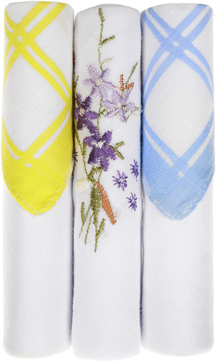 Платок носовой женский Zlata Korunka, цвет: желтый, белый, голубой, 3 шт. 40423-26. Размер 28 см х 28 см40423-26Небольшой женский носовой платок Zlata Korunka изготовлен из высококачественного натурального хлопка, благодаря чему приятен в использовании, хорошо стирается, не садится и отлично впитывает влагу. Практичный и изящный носовой платок будет незаменим в повседневной жизни любого современного человека. Такой платок послужит стильным аксессуаром и подчеркнет ваше превосходное чувство вкуса. В комплекте 3 платка.