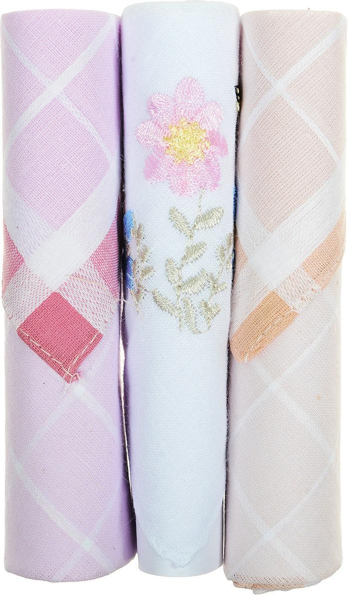 Платок носовой женский Zlata Korunka, цвет: розовый, белый, бежевый, 3 шт. 40423-50. Размер 28 см х 28 см40423-50Небольшой женский носовой платок Zlata Korunka изготовлен из высококачественного натурального хлопка, благодаря чему приятен в использовании, хорошо стирается, не садится и отлично впитывает влагу. Практичный и изящный носовой платок будет незаменим в повседневной жизни любого современного человека. Такой платок послужит стильным аксессуаром и подчеркнет ваше превосходное чувство вкуса. В комплекте 3 платка.
