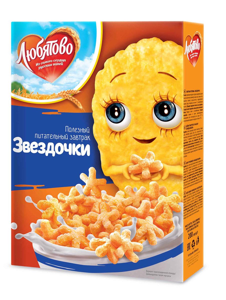 Любятово Готовый завтрак Звездочки, 200 г1556Готовый завтрак в виде космических звездочек.