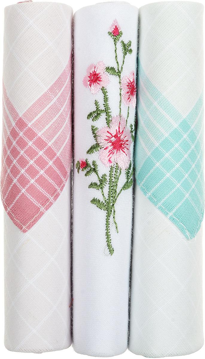Платок носовой женский Zlata Korunka, цвет: розовый, белый, бирюзовый, 3 шт. 40423-128. Размер 28 см х 28 см40423-128Небольшой женский носовой платок Zlata Korunka изготовлен из высококачественного натурального хлопка, благодаря чему приятен в использовании, хорошо стирается, не садится и отлично впитывает влагу. Практичный и изящный носовой платок будет незаменим в повседневной жизни любого современного человека. Такой платок послужит стильным аксессуаром и подчеркнет ваше превосходное чувство вкуса. В комплекте 3 платка.