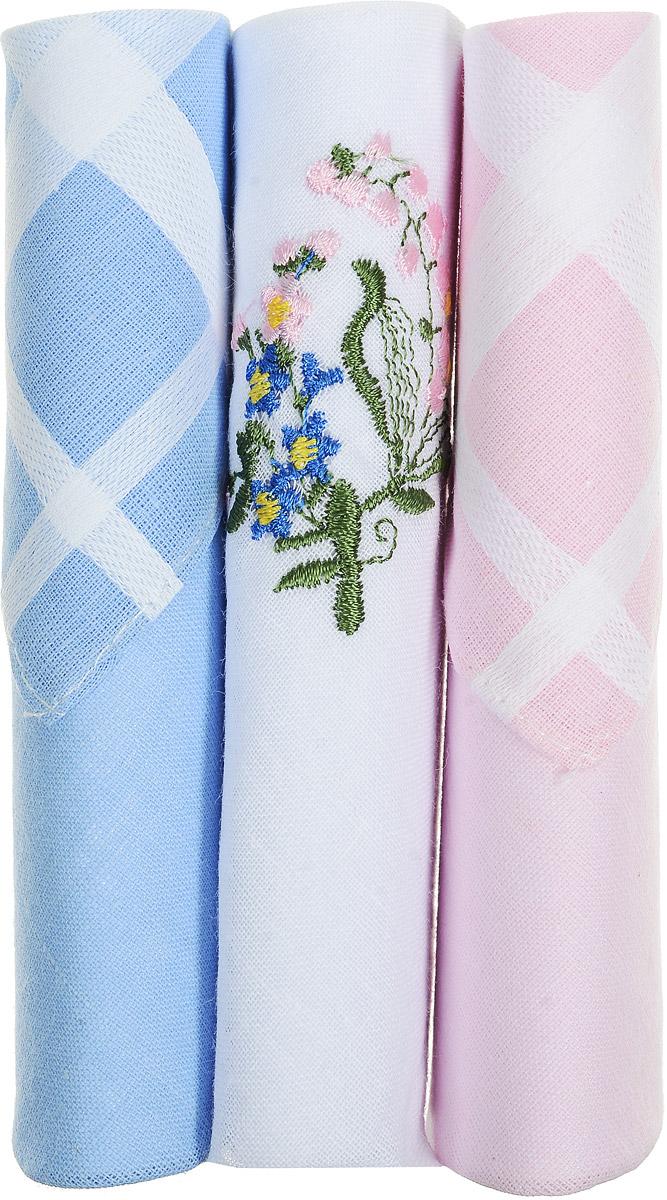 Платок носовой женский Zlata Korunka, цвет: голубой, белый, розовый, 3 шт. 40423-132. Размер 28 см х 28 см40423-132Небольшой женский носовой платок Zlata Korunka изготовлен из высококачественного натурального хлопка, благодаря чему приятен в использовании, хорошо стирается, не садится и отлично впитывает влагу. Практичный и изящный носовой платок будет незаменим в повседневной жизни любого современного человека. Такой платок послужит стильным аксессуаром и подчеркнет ваше превосходное чувство вкуса. В комплекте 3 платка.