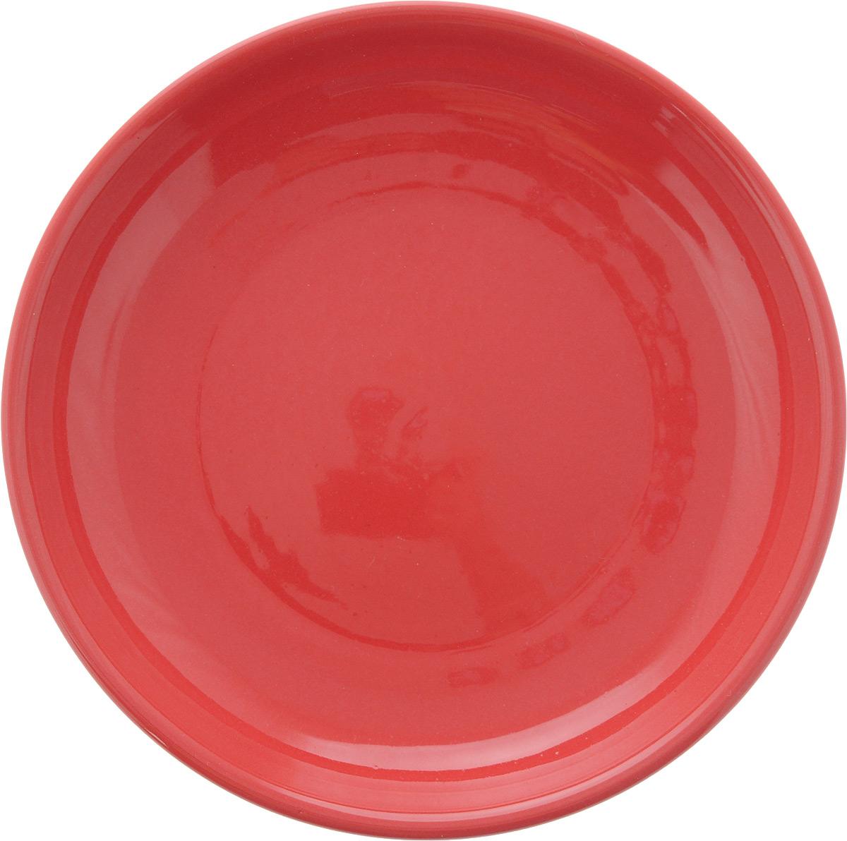 Тарелка Борисовская керамика Радуга, цвет: красный, диаметр 18 смРАД00000458_красныйТарелка Борисовская керамика Радуга изготовлена из керамики. Изделие идеально подойдет для сервировки стола. Тарелка отлично впишется в любой интерьер современной кухни и станет отличным подарком для вас и ваших близких. Можно использовать в духовке и микроволновой печи. Диаметр тарелки: 18 см. Высота тарелки: 3 см.