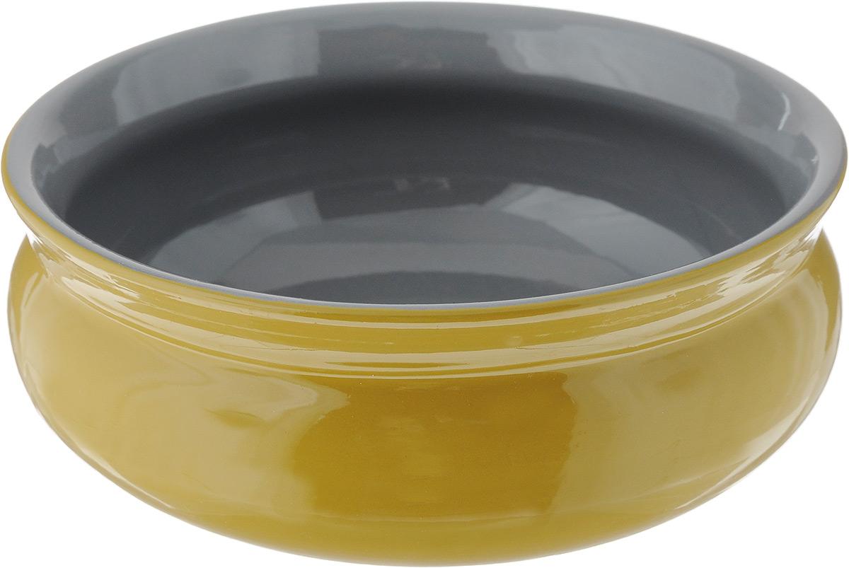 Тарелка глубокая Борисовская керамика Скифская, цвет: горчичный, серый, 500 млРАД14458194_горчичный, серыйГлубокая тарелка Борисовская керамика Скифская выполнена из керамики. Изделие сочетает в себе изысканный дизайн с максимальной функциональностью. Она прекрасно впишется в интерьер вашей кухни и станет достойным дополнением к кухонному инвентарю. Такая тарелка подчеркнет прекрасный вкус хозяйки и станет отличным подарком. Можно использовать в духовке и микроволновой печи. Диаметр тарелки (по верхнему краю): 14 см. Высота стенки: 6 см. Объем: 500 мл.