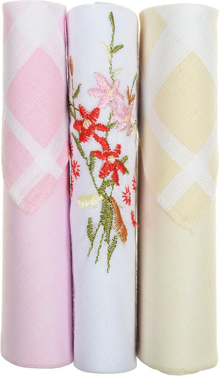 Платок носовой женский Zlata Korunka, цвет: розовый, белый, бежевый, 3 шт. 40423-54. Размер 28 см х 28 см40423-54Небольшой женский носовой платок Zlata Korunka изготовлен из высококачественного натурального хлопка, благодаря чему приятен в использовании, хорошо стирается, не садится и отлично впитывает влагу. Практичный и изящный носовой платок будет незаменим в повседневной жизни любого современного человека. Такой платок послужит стильным аксессуаром и подчеркнет ваше превосходное чувство вкуса. В комплекте 3 платка.