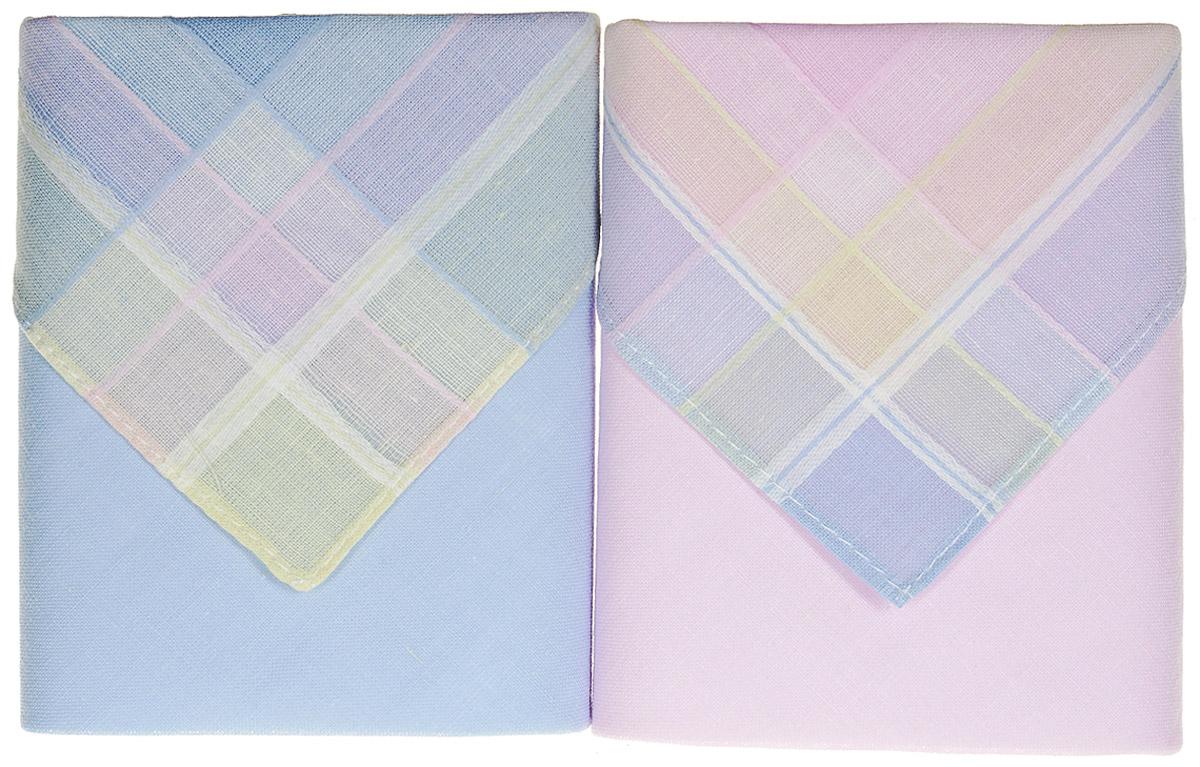 Платок носовой женский Zlata Korunka, цвет: мультиколор, 2 шт. 90220-6. Размер 28 см х 28 см90220-6