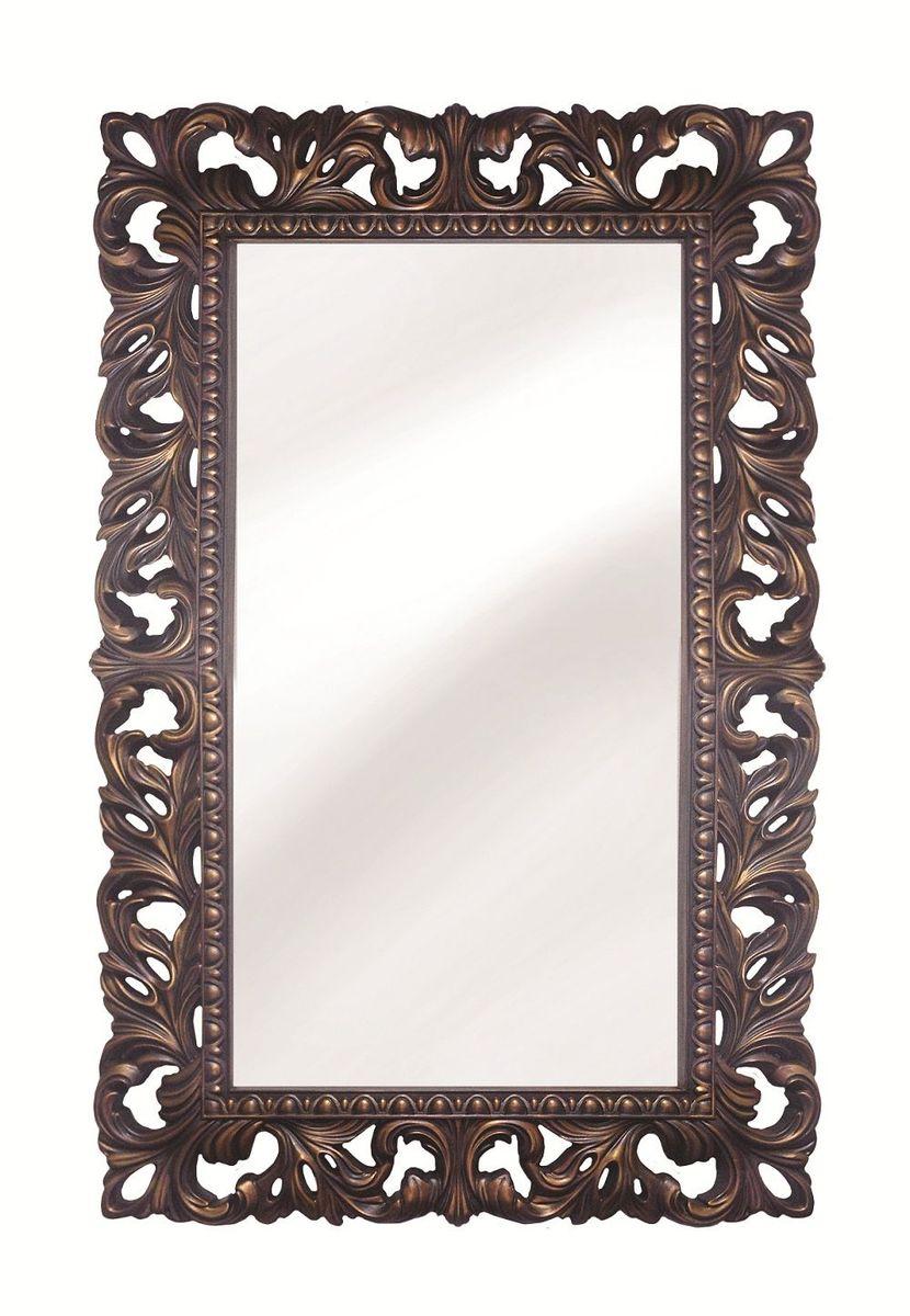 Зеркало VezzoLLi Лиа, цвет: коричнево-красный, 63 х 95 см14-15С обратной стороны зеркало снабжено тремя металлическими подвесами для возможности разместить его и вертикально и горизонтально. Ширина обрамления 12 см. Видимый размер зеркального полотна 72х39 см
