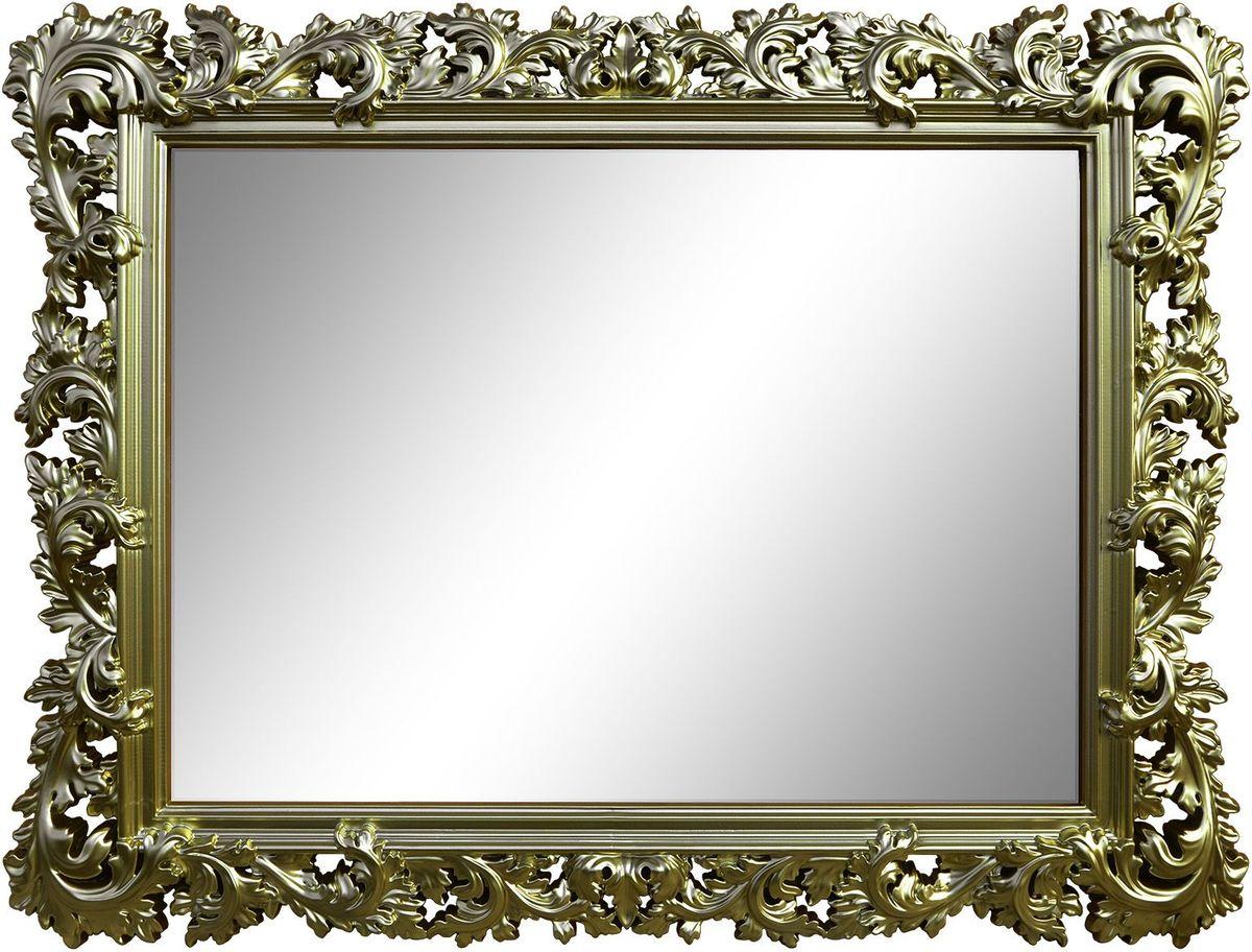 Зеркало VezzoLLi Алиана, цвет: бронза, 88 х 115 см15-81С обратной стороны зеркало снабжено тремя металлическими подвесами для возможности разместить его и вертикально и горизонтально. Ширина обрамления 15 см.