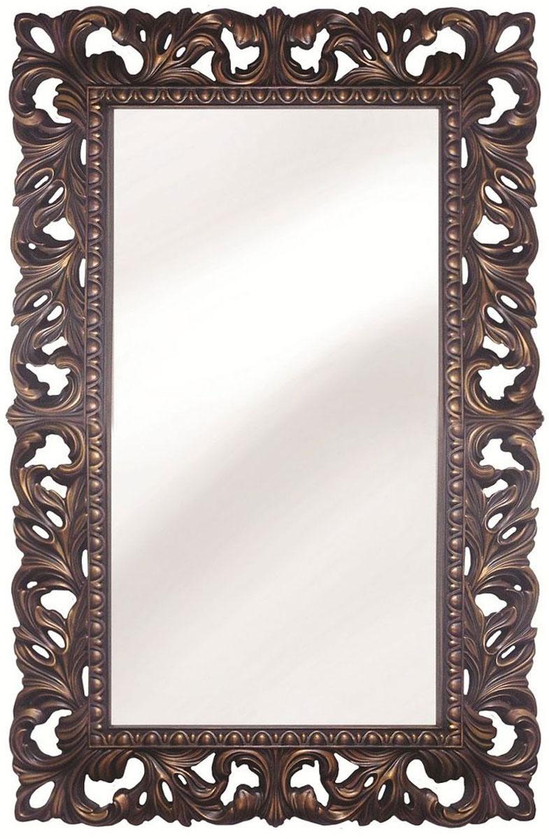 Зеркало VezzoLLi Италиа, цвет: коричнево-красный, 75 х 115 см16-15С обратной стороны зеркало снабжено тремя металлическими подвесами для возможности разместить его и вертикально и горизонтально. Видимый размер зеркала 87х46 см. Ширина обрамления 14,5 см.