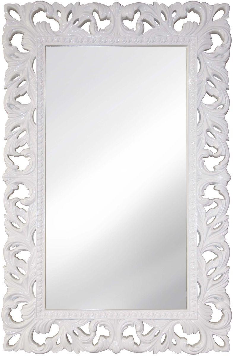 Зеркало VezzoLLi Италиа, цвет: белый, 75 х 115 см16-49С обратной стороны зеркало снабжено тремя металлическими подвесами для возможности разместить его и вертикально и горизонтально. Видимый размер зеркала 87х46 см. Ширина обрамления 14,5 см.