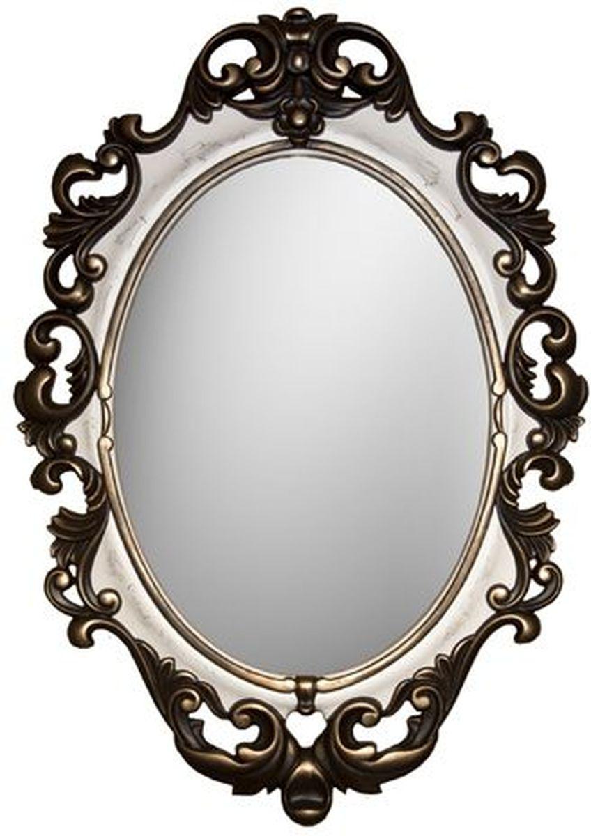 Зеркало VezzoLLi Винтаж, цвет: слоновая кость, 67 х 96 см6-07С обратной стороны зеркало снабжено двумя металлическими подвесами. Видимый размер зеркального полотна 60х43,5 см.