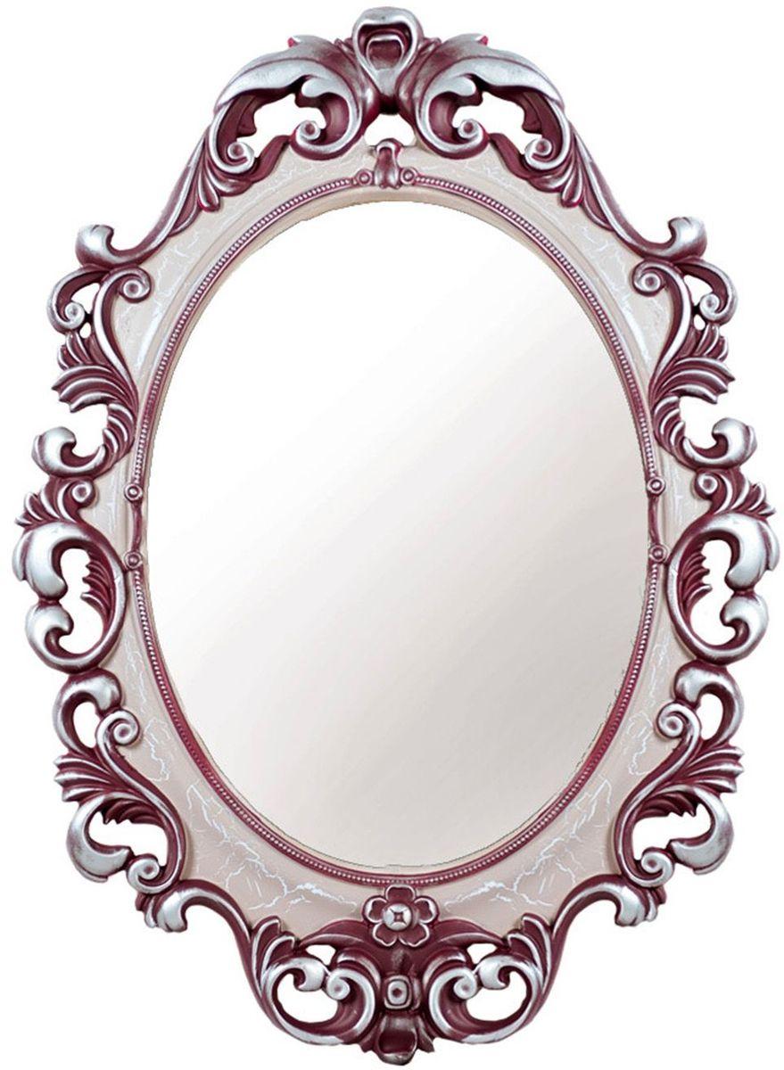 Зеркало VezzoLLi Винтаж, цвет: розовый, 67 х 96 см6-08С обратной стороны зеркало снабжено двумя металлическими подвесами. Видимый размер зеркального полотна 60х43,5 см.