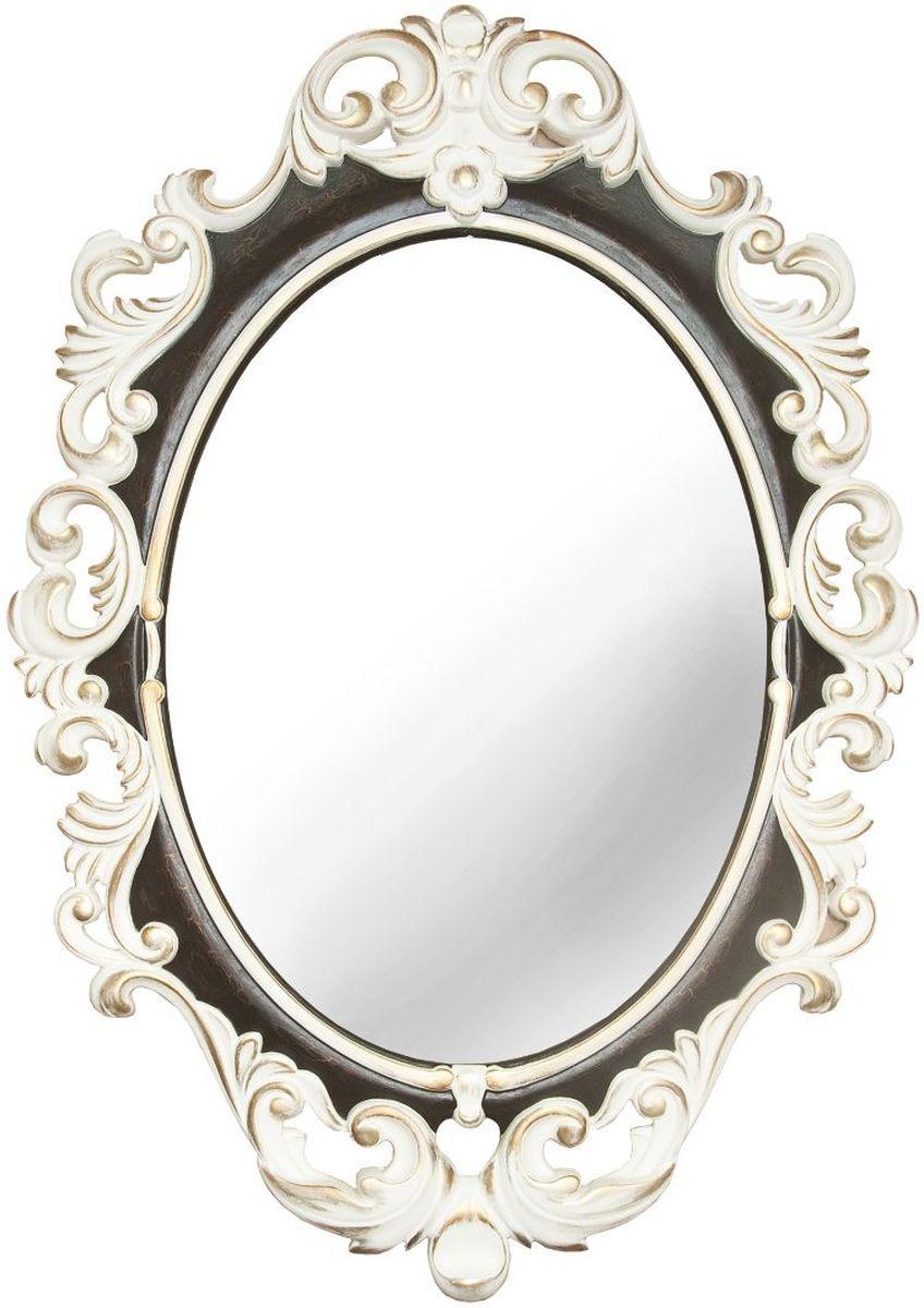 Зеркало VezzoLLi Винтаж, цвет: слоновая кость, 67 х 96 см6-26С обратной стороны зеркало снабжено двумя металлическими подвесами. Видимый размер зеркального полотна 60х43,5 см.