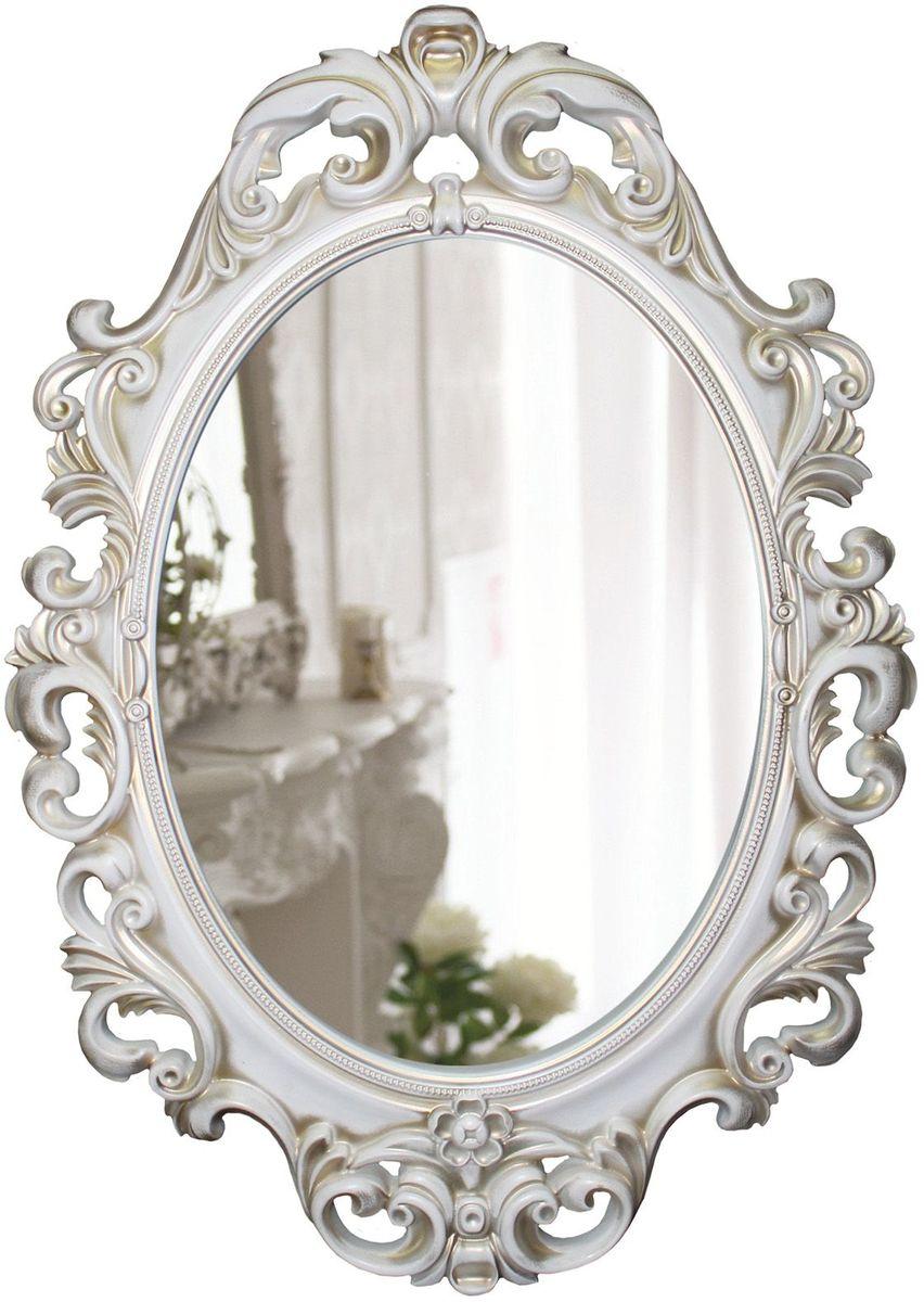 Зеркало VezzoLLi Винтаж, цвет: белый, 67 х 96 см6-53С обратной стороны зеркало снабжено двумя металлическими подвесами. Видимый размер зеркального полотна 60х43,5 см.