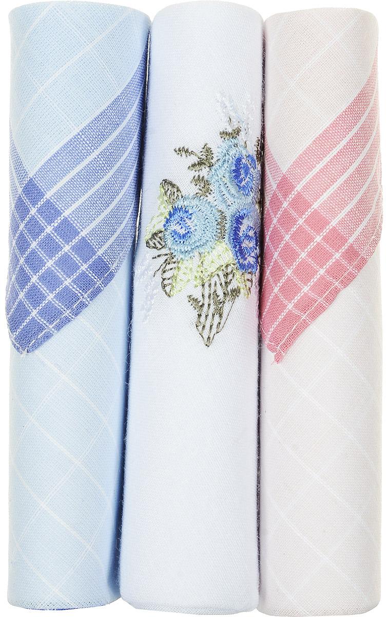 Платок носовой женский Zlata Korunka, цвет: голубой, белый, розовый, 3 шт. 40423-17. Размер 28 см х 28 см40423-17Небольшой женский носовой платок Zlata Korunka изготовлен из высококачественного натурального хлопка, благодаря чему приятен в использовании, хорошо стирается, не садится и отлично впитывает влагу. Практичный и изящный носовой платок будет незаменим в повседневной жизни любого современного человека. Такой платок послужит стильным аксессуаром и подчеркнет ваше превосходное чувство вкуса. В комплекте 3 платка.