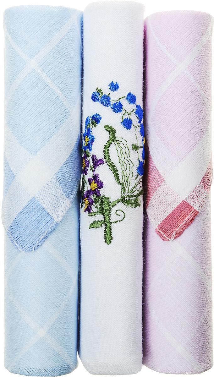 Платок носовой женский Zlata Korunka, цвет: голубой, белый, розовый, 3 шт. 40423-121. Размер 28 см х 28 см40423-121Небольшой женский носовой платок Zlata Korunka изготовлен из высококачественного натурального хлопка, благодаря чему приятен в использовании, хорошо стирается, не садится и отлично впитывает влагу. Практичный и изящный носовой платок будет незаменим в повседневной жизни любого современного человека. Такой платок послужит стильным аксессуаром и подчеркнет ваше превосходное чувство вкуса. В комплекте 3 платка.