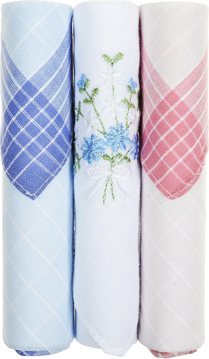 Платок носовой женский Zlata Korunka, цвет: голубой, белый, розовый, 3 шт. 40423-72. Размер 28 см х 28 см40423-72Небольшой женский носовой платок Zlata Korunka изготовлен из высококачественного натурального хлопка, благодаря чему приятен в использовании, хорошо стирается, не садится и отлично впитывает влагу. Практичный и изящный носовой платок будет незаменим в повседневной жизни любого современного человека. Такой платок послужит стильным аксессуаром и подчеркнет ваше превосходное чувство вкуса. В комплекте 3 платка.