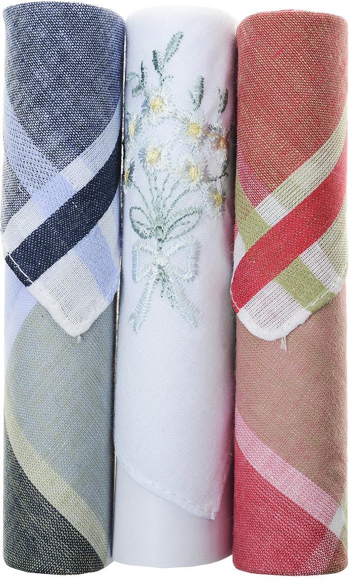 Платок носовой женский Zlata Korunka, цвет: синий, белый, красный, 3 шт. 40423-116. Размер 28 см х 28 см40423-116Небольшой женский носовой платок Zlata Korunka изготовлен из высококачественного натурального хлопка, благодаря чему приятен в использовании, хорошо стирается, не садится и отлично впитывает влагу. Практичный и изящный носовой платок будет незаменим в повседневной жизни любого современного человека. Такой платок послужит стильным аксессуаром и подчеркнет ваше превосходное чувство вкуса. В комплекте 3 платка.
