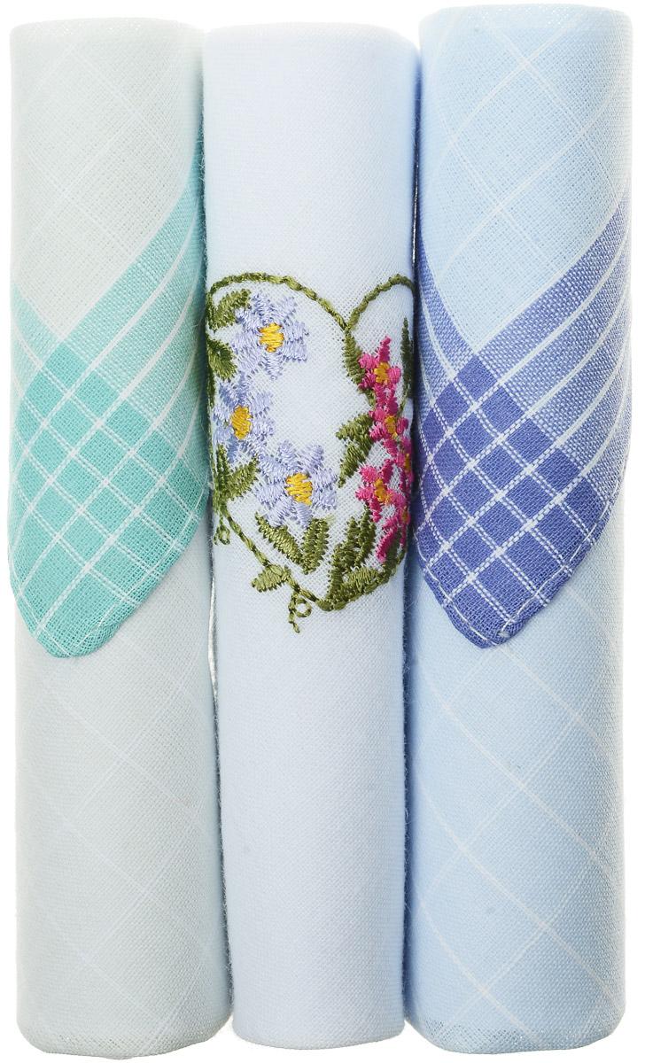 Платок носовой женский Zlata Korunka, цвет: бирюзовый, белый, голубой, 3 шт. 40423-44. Размер 28 см х 28 см40423-44Небольшой женский носовой платок Zlata Korunka изготовлен из высококачественного натурального хлопка, благодаря чему приятен в использовании, хорошо стирается, не садится и отлично впитывает влагу. Практичный и изящный носовой платок будет незаменим в повседневной жизни любого современного человека. Такой платок послужит стильным аксессуаром и подчеркнет ваше превосходное чувство вкуса. В комплекте 3 платка.