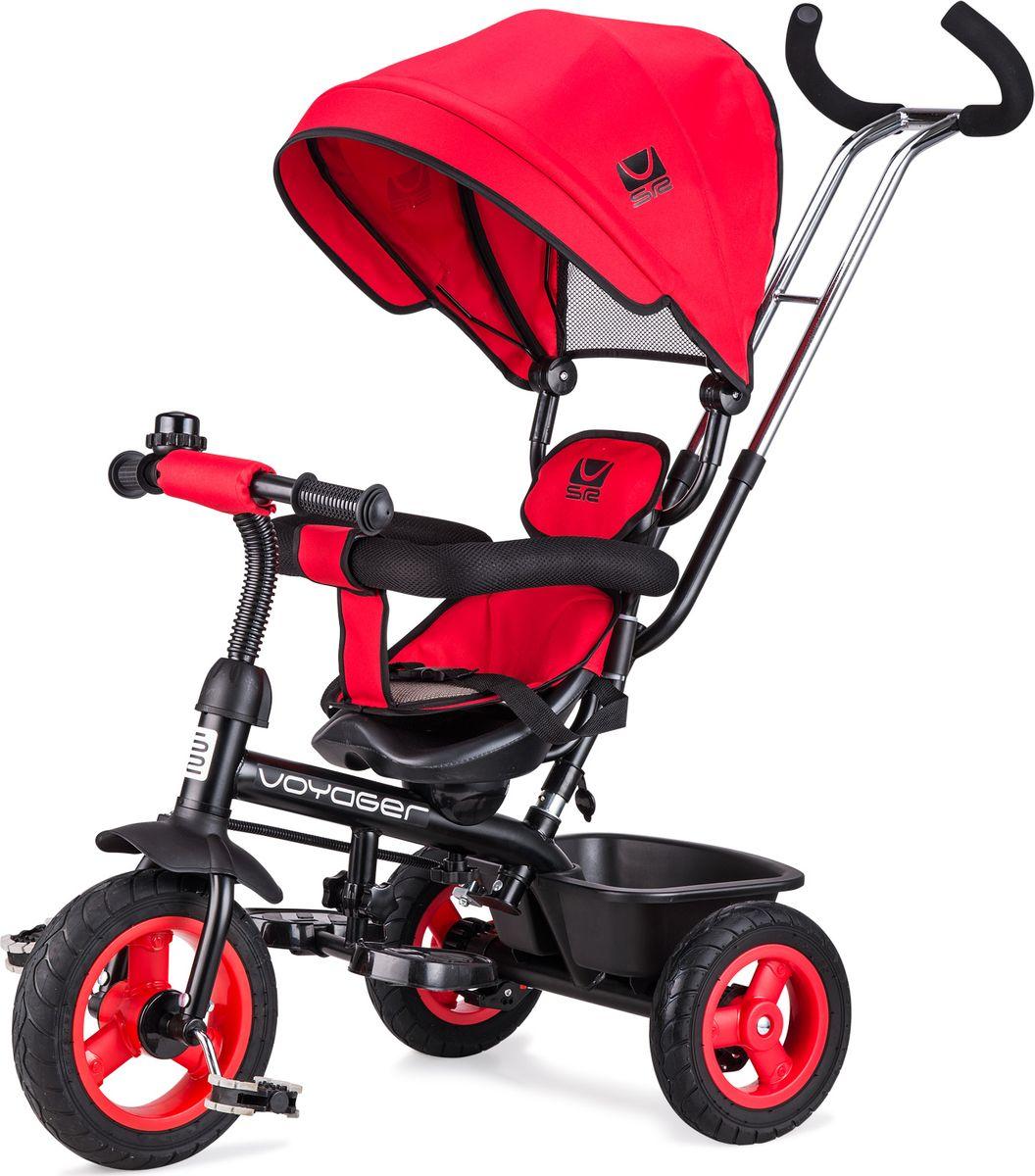 Small Rider Велосипед трехколесный Voyager цвет красный1224965Превратите каждую прогулку в Вояж или Путешествие! Смолл Райдер Вояджер - это комфортный трехколесный велосипед нового поколения, воплотивший в себе все современные функции и высокие требования к комфорту ребенка. Стильный дизайн европейского уровня. Трехколесный велосипед является и детским транспортом, и модным аксессуаром, подчеркивающим Ваш стиль на прогулке. Красота линий велосипеда радует глаз, акцентирует фокус на легкости и спортивности, воплощает лаконичность и изящество формы. Бескамерные покрышки. Колеса у велосипеда имеют специальные бескамерные покрышки, которые по внешнему виду и ощущениям абсолютно идентичны надувным, но при этом не требуют подкачки и не прокалываются. Колесо все время как бы максимально накачано. Это современный тип колес, который объединил в себе все преимущества надувных и ПВХ колес, ведь колеса катятся плавно и мягко, не требуя ухода в будущем. Элегантные матовые диски смотрятся премиально и основательно. ...