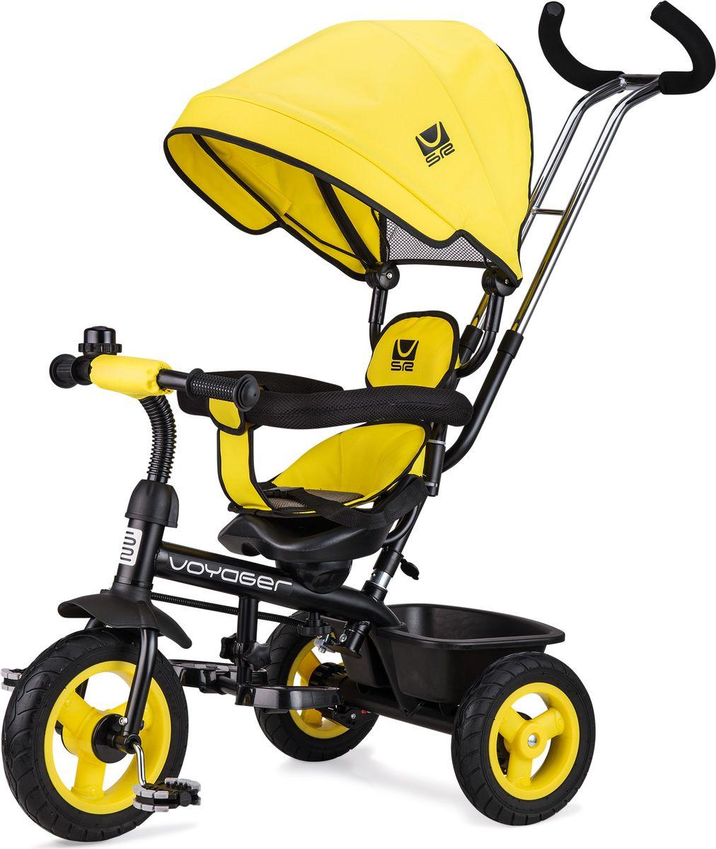 Small Rider Велосипед трехколесный Voyager цвет желтый1269025Превратите каждую прогулку в Вояж или Путешествие! Смолл Райдер Вояджер - это комфортный трехколесный велосипед нового поколения, воплотивший в себе все современные функции и высокие требования к комфорту ребенка. Стильный дизайн европейского уровня. Трехколесный велосипед является и детским транспортом, и модным аксессуаром, подчеркивающим Ваш стиль на прогулке. Красота линий велосипеда радует глаз, акцентирует фокус на легкости и спортивности, воплощает лаконичность и изящество формы. Бескамерные покрышки. Колеса у велосипеда имеют специальные бескамерные покрышки, которые по внешнему виду и ощущениям абсолютно идентичны надувным, но при этом не требуют подкачки и не прокалываются. Колесо все время как бы максимально накачано. Это современный тип колес, который объединил в себе все преимущества надувных и ПВХ колес, ведь колеса катятся плавно и мягко, не требуя ухода в будущем. Элегантные матовые диски смотрятся премиально и основательно. ...