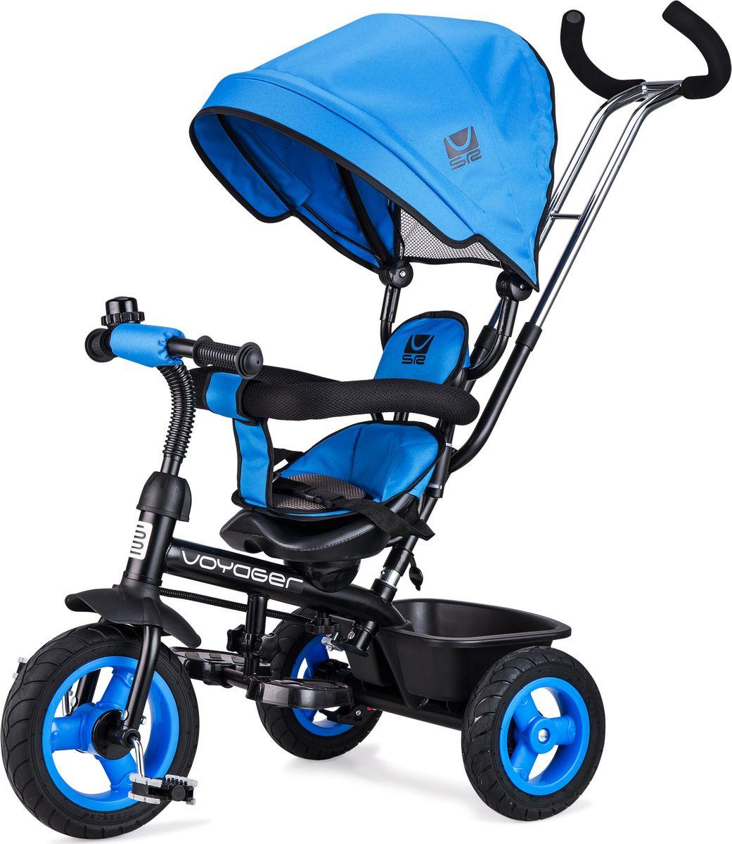 Small Rider Велосипед трехколесный Voyager цвет синий1269046Превратите каждую прогулку в Вояж или Путешествие! Смолл Райдер Вояджер - это комфортный трехколесный велосипед нового поколения, воплотивший в себе все современные функции и высокие требования к комфорту ребенка. Стильный дизайн европейского уровня. Трехколесный велосипед является и детским транспортом, и модным аксессуаром, подчеркивающим Ваш стиль на прогулке. Красота линий велосипеда радует глаз, акцентирует фокус на легкости и спортивности, воплощает лаконичность и изящество формы. Бескамерные покрышки. Колеса у велосипеда имеют специальные бескамерные покрышки, которые по внешнему виду и ощущениям абсолютно идентичны надувным, но при этом не требуют подкачки и не прокалываются. Колесо все время как бы максимально накачано. Это современный тип колес, который объединил в себе все преимущества надувных и ПВХ колес, ведь колеса катятся плавно и мягко, не требуя ухода в будущем. Элегантные матовые диски смотрятся премиально и основательно. ...