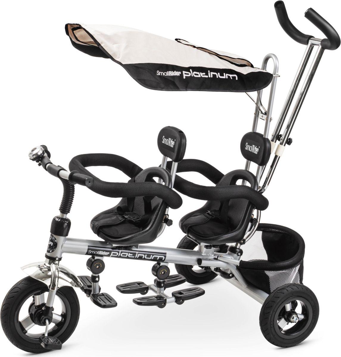 Small Rider Велосипед трехколесный для двоих детей Platinum ALT цвет серый