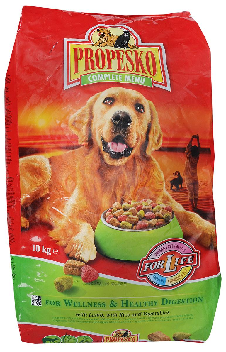 Корм сухойPropesko для собак, с ягненком, рисом и овощами, 10 кг14257Сухой корм Propesko с ягненком, рисом и овощами - полнорационное питание для собак. Содержание белка обеспечивает достаточный запас энергии в течение дня, витамин А - хорошее зрение, а витамин D3 помогает держать кости и зубы крепкими. Корм Propesko содержит три типа сухих гранул, которые обеспечивают собаке хорошее здоровье, крепкие зубы и кости, острое зрение, максимальную усвояемость. Оптимальный состав, высококачественное сырье и хорошо усваиваемые компоненты обеспечивают собаку животным и растительным белком, животным жиром и растительными маслами. Корм обогащается минералами, микроэлементами и витаминами А, D3, E. Это гарантирует вашей кошке хорошее здоровье и отличную физическую форму. Товар сертифицирован.