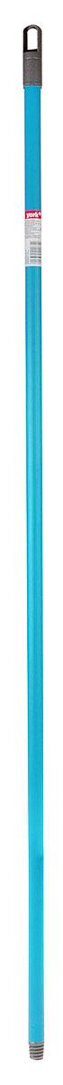 Рукоятка для швабры York, цвет: бирюзовый, серый, длина 130 см9103_бирюзовый, серыйРукоятка York изготовлена из металла со специальным покрытием. Изделие отличается высокой прочностью. Специальное отверстие позволит подвесить рукоятку на крючок. Универсальная резьба подходит ко всем швабрам и щеткам. Длина: 130 см. Диаметр: 2 см.