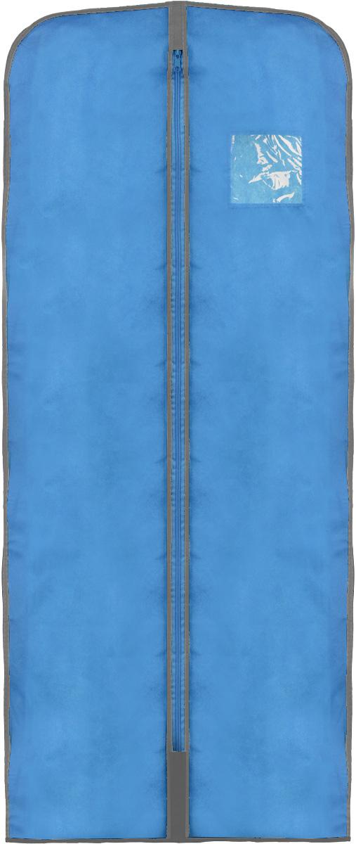 Чехол для одежды Хозяюшка Мила, тканевый, цвет: серый, голубой, 60 х 137 см47011_серый, голубойЧехол для одежды Хозяюшка Мила изготовлен из вискозы и оснащен застежкой-молнией. Особое строение полотна создает естественную вентиляцию: материал дышит и позволяет воздуху свободно проникать внутрь чехла, не пропуская пыль. Прозрачное окошко позволяет увидеть, какие вещи находятся внутри. Чехол для одежды будет очень полезен при транспортировке вещей на близкие и дальние расстояния, при длительном хранении сезонной одежды, а также при ежедневном хранении вещей из деликатных тканей. Чехол для одежды Хозяюшка Мила защитит ваши вещи от повреждений, пыли, моли, влаги и загрязнений.