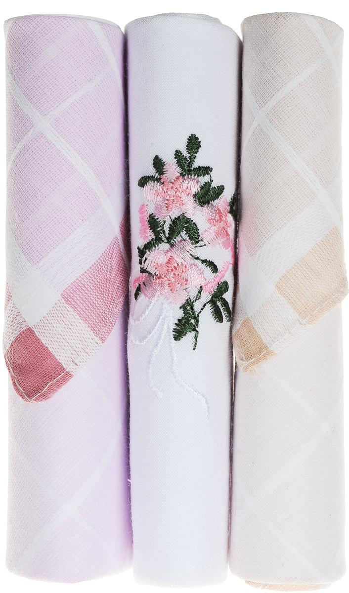 Платок носовой женский Zlata Korunka, цвет: розовый, белый, бежевый, 3 шт. 40423-33. Размер 28 см х 28 см40423-33Небольшой женский носовой платок Zlata Korunka изготовлен из высококачественного натурального хлопка, благодаря чему приятен в использовании, хорошо стирается, не садится и отлично впитывает влагу. Практичный и изящный носовой платок будет незаменим в повседневной жизни любого современного человека. Такой платок послужит стильным аксессуаром и подчеркнет ваше превосходное чувство вкуса. В комплекте 3 платка.