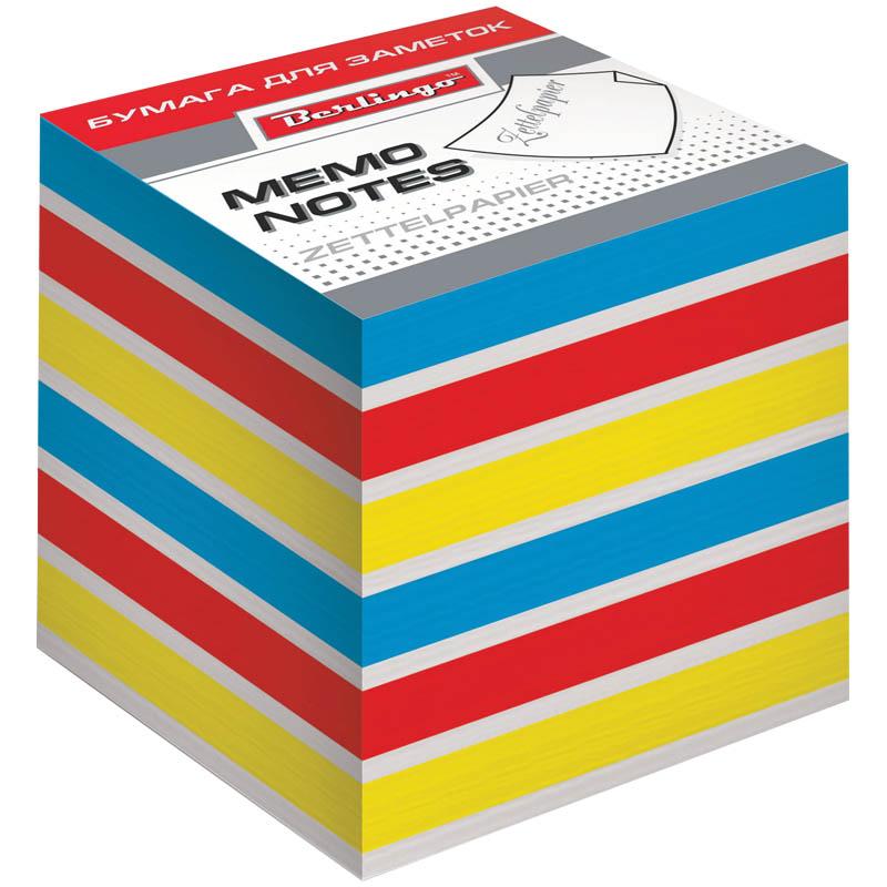 Berlingo Бумага для заметок Rainbow цветная 8 х 8 х 8 смLNn_01339Блок для заметок на склейке из бумаги четырех цветов: красного, желтого, синего и белого. Упакован в термоусадочную пленку