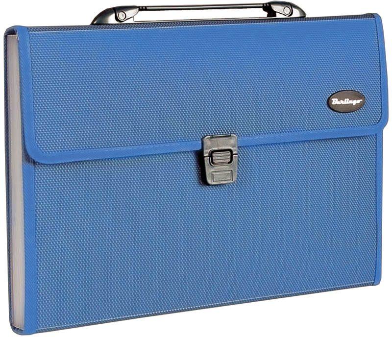 Berlingo Папка-портфель 13 отделений Standard цвет синийMF2304На замке. Укрепленная ручка. Материал - жесткий пластик. 13 отделений используется для хранения и перевозки большого количества документов, сгруппированных по темам. Встроенный индексный разделитель.