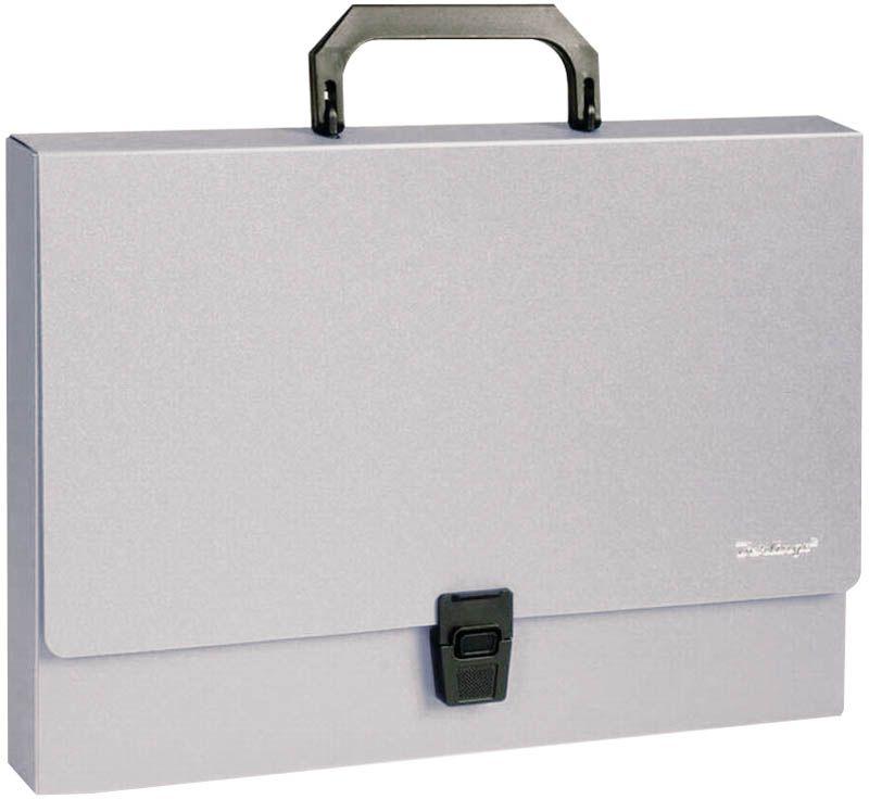 Berlingo Папка-портфель Standard цвет серыйMP2309На замке. Укрепленная ручка. Материал - жесткий пластик. Стильный дизайн и популярные офисные цвета. Индивидуальная упаковка в пакет.